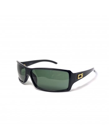 Rectangular Black With Gold Gucci Sunglasses